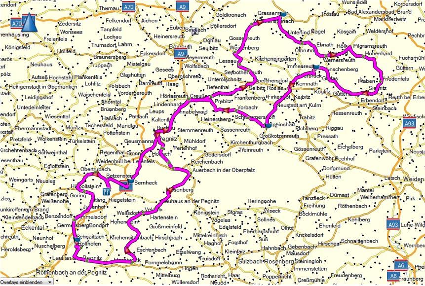 Fränkische Schweiz Karte.Hersbrucker Schweiz Karte Kleve Landkarte